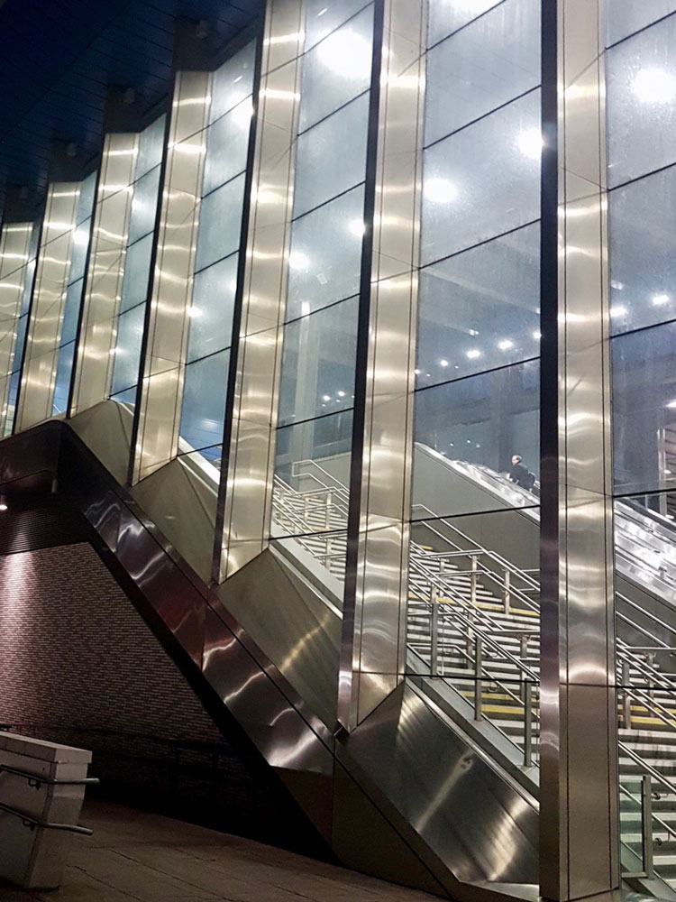 Commercial Window Cleaning at Reading Train Station - Stairs before cleaning