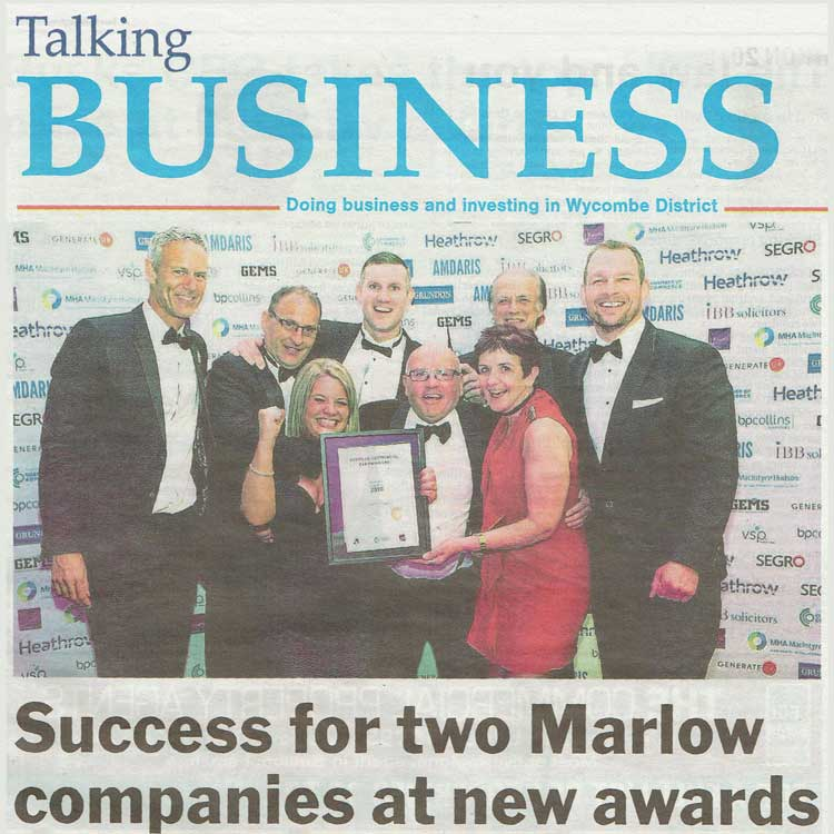 Ryemead win Business Award - Bucks Free Press