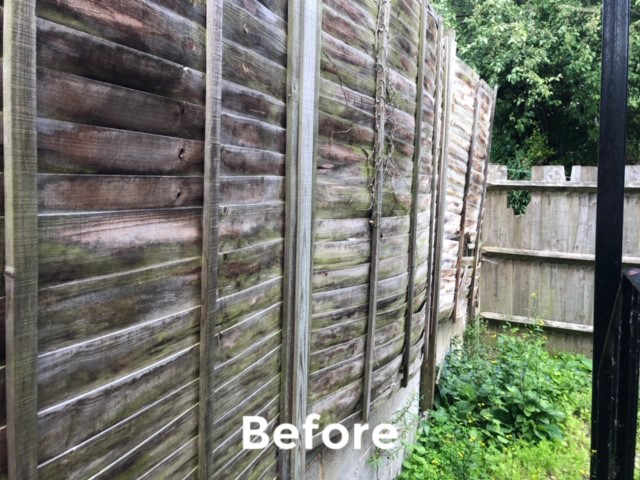 Grounds maintenance and repair at Kee Resources - the fence before repair