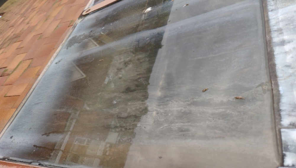 Window cleaning at Comland, Wokingham - the windows before cleaning