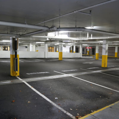 Empty underground parking background