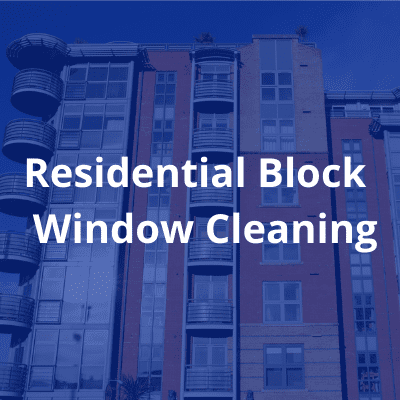 Residential Block window cleaning